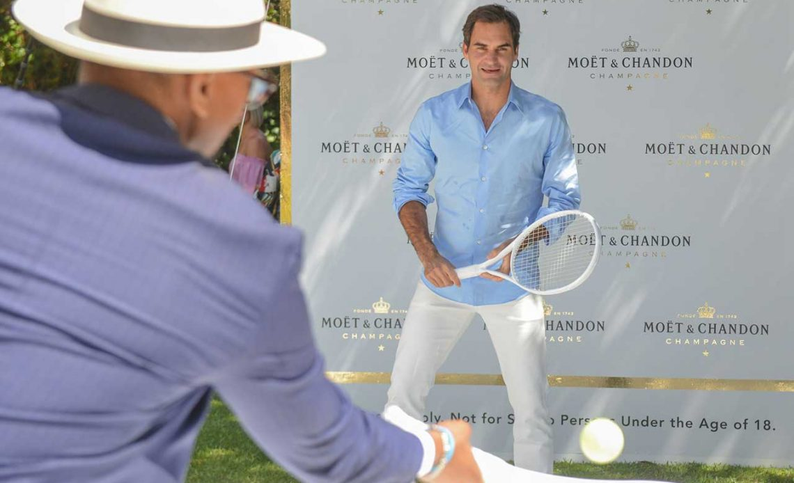 "A Moët & Chandon Moment with Roger Federer in ""The Match in Africa 6"""